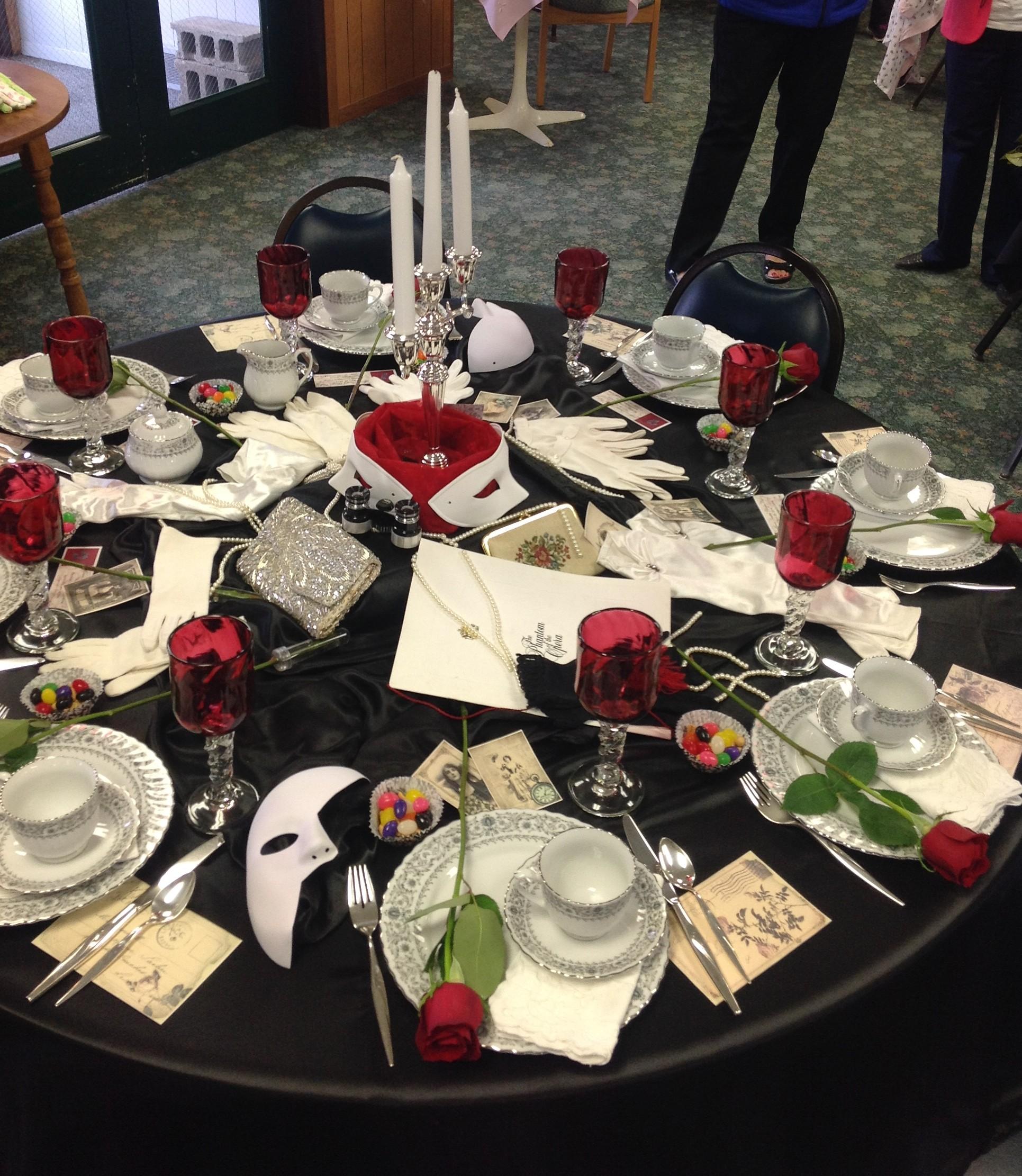 DIY: Phantom of the Opera Themed Tea Party – nwminnesotamo
